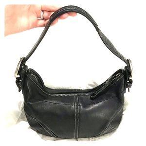 Coach Small Handbag black leather